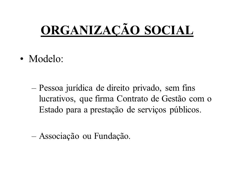 ORGANIZAÇÃO SOCIAL Modelo: