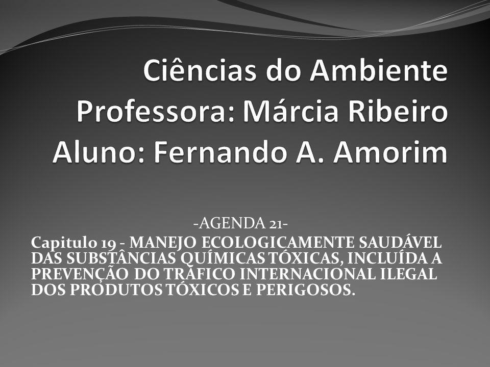 Ciências do Ambiente Professora: Márcia Ribeiro Aluno: Fernando A
