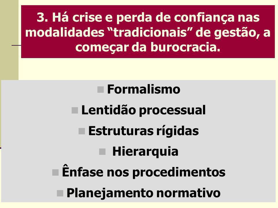 Ênfase nos procedimentos Planejamento normativo