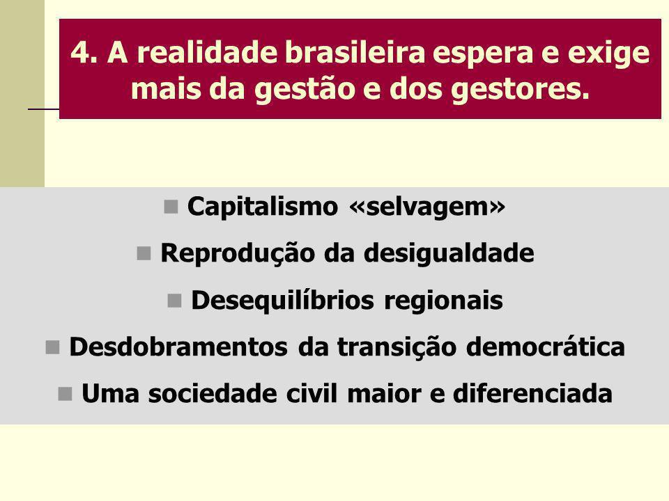 4. A realidade brasileira espera e exige mais da gestão e dos gestores.