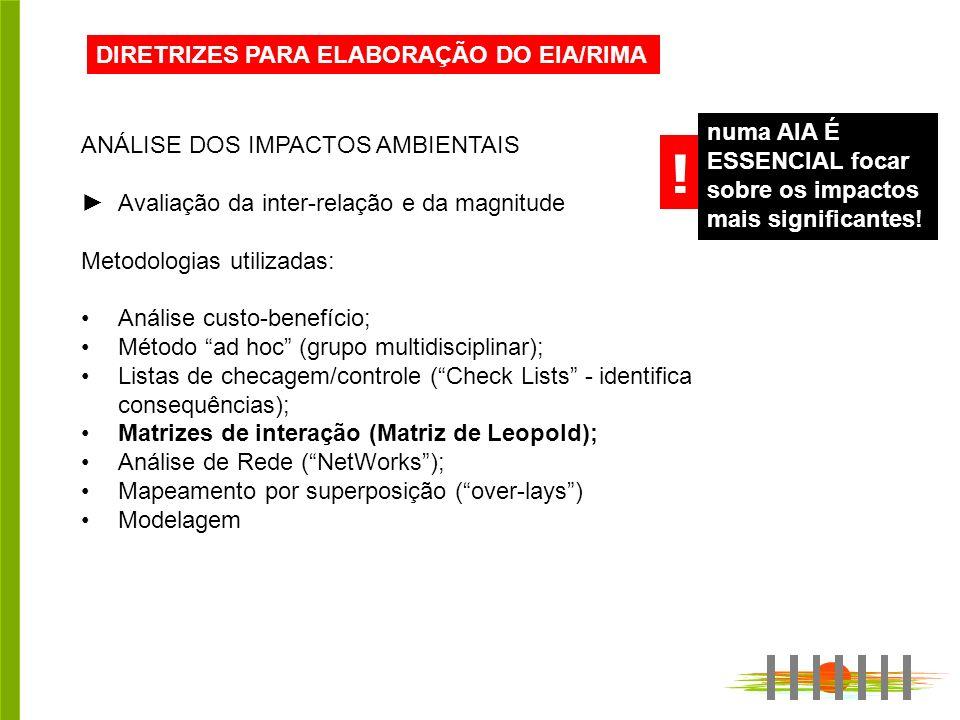 ! DIRETRIZES PARA ELABORAÇÃO DO EIA/RIMA