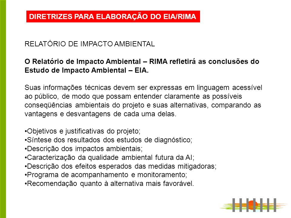 DIRETRIZES PARA ELABORAÇÃO DO EIA/RIMA