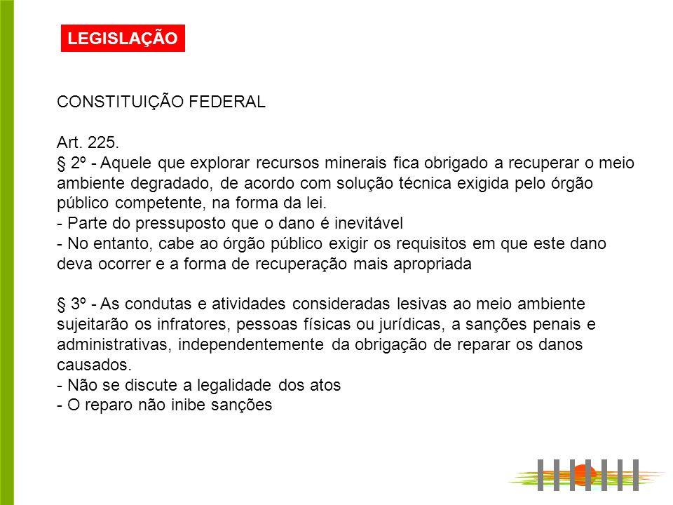 LEGISLAÇÃO CONSTITUIÇÃO FEDERAL. Art. 225.