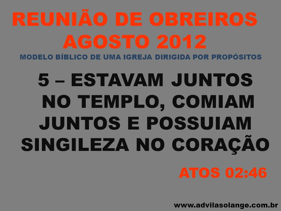 REUNIÃO DE OBREIROS AGOSTO 2012