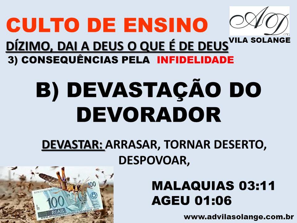 DEVASTAR: ARRASAR, TORNAR DESERTO,
