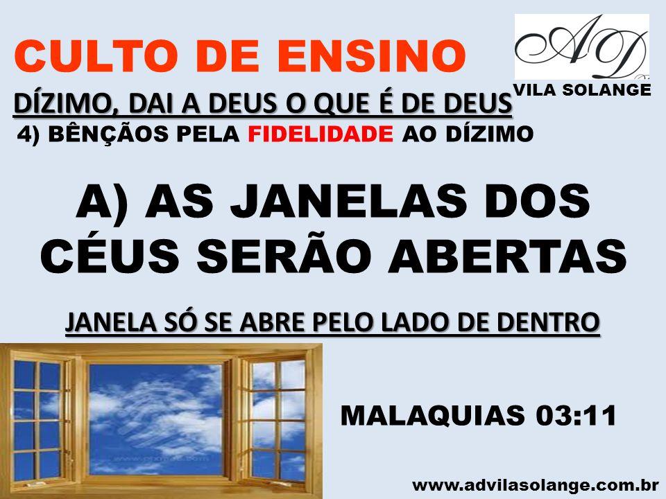 JANELA SÓ SE ABRE PELO LADO DE DENTRO