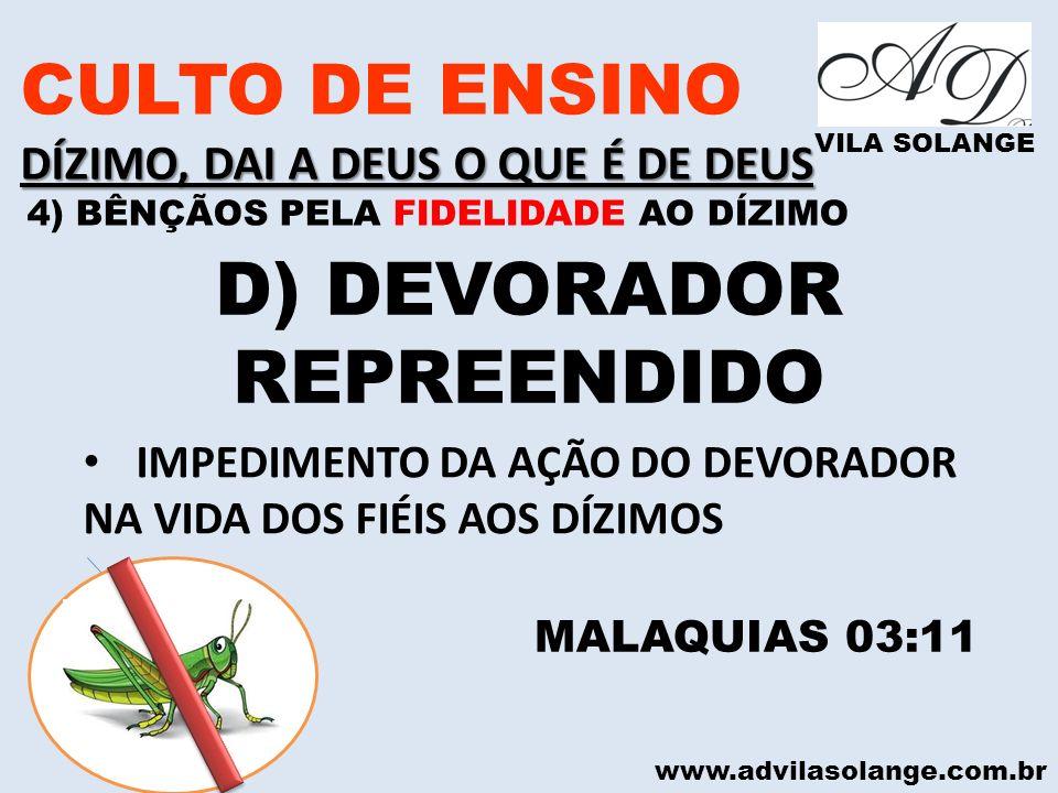 D) DEVORADOR REPREENDIDO
