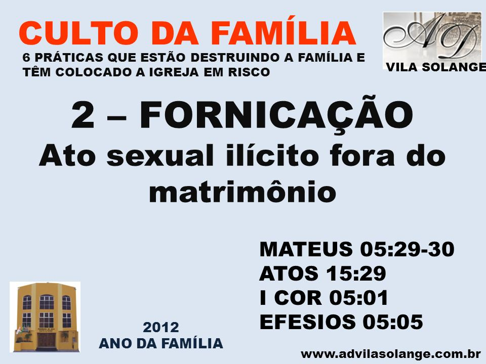 Ato sexual ilícito fora do matrimônio