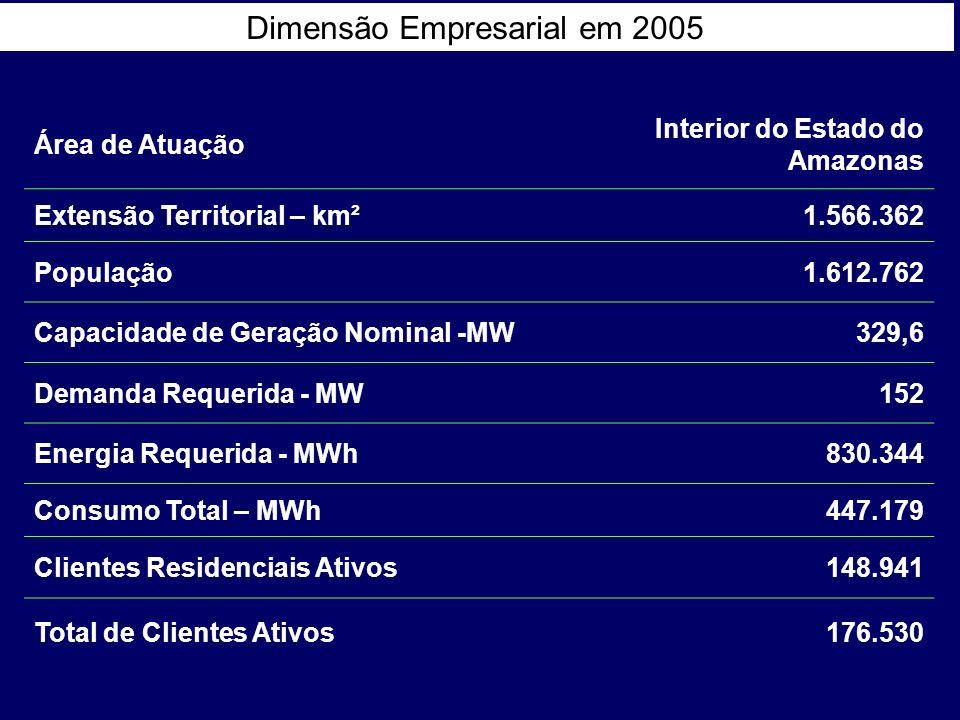 Dimensão Empresarial em 2005