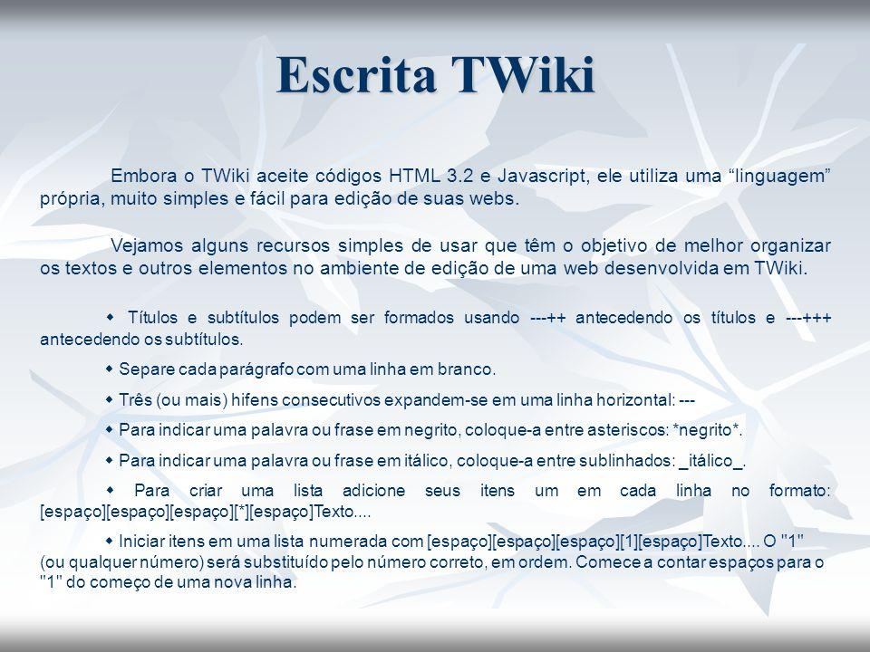 Escrita TWiki