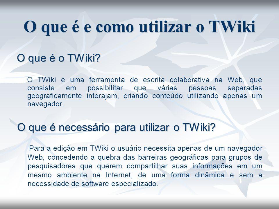 O que é e como utilizar o TWiki