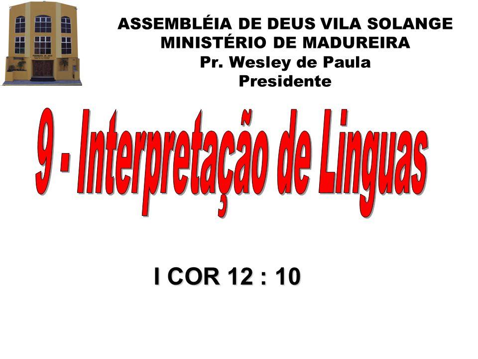9 - Interpretação de Linguas