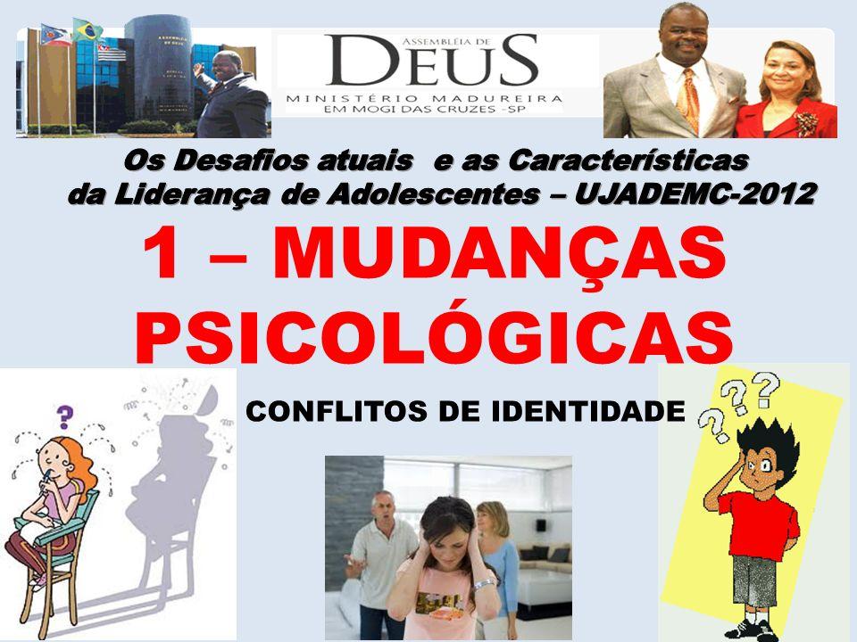 1 – MUDANÇAS PSICOLÓGICAS Os Desafios atuais e as Características