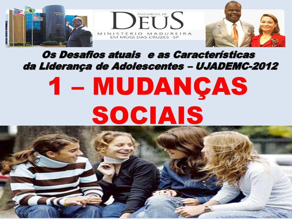 1 – MUDANÇAS SOCIAIS Os Desafios atuais e as Características