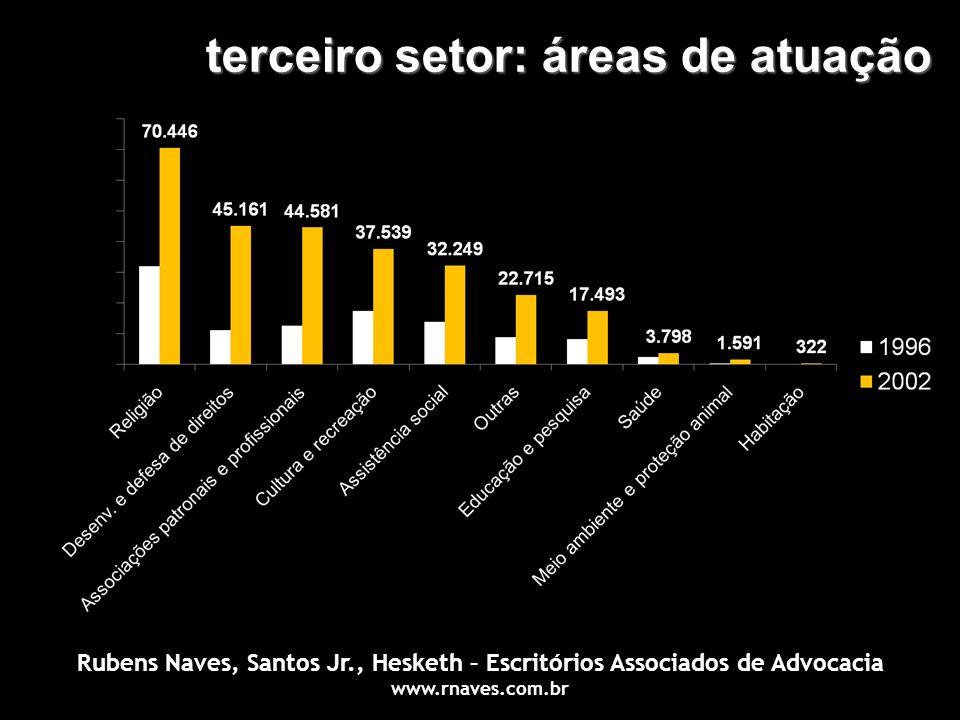 terceiro setor: áreas de atuação