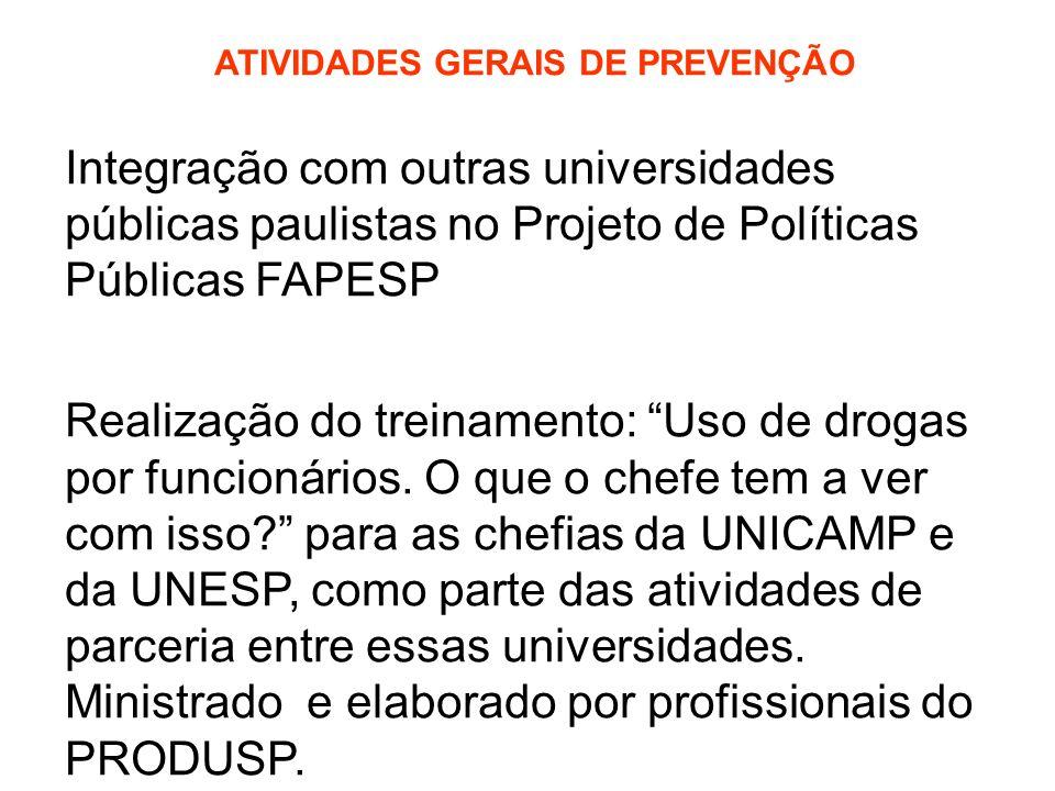 Ministrado e elaborado por profissionais do PRODUSP.