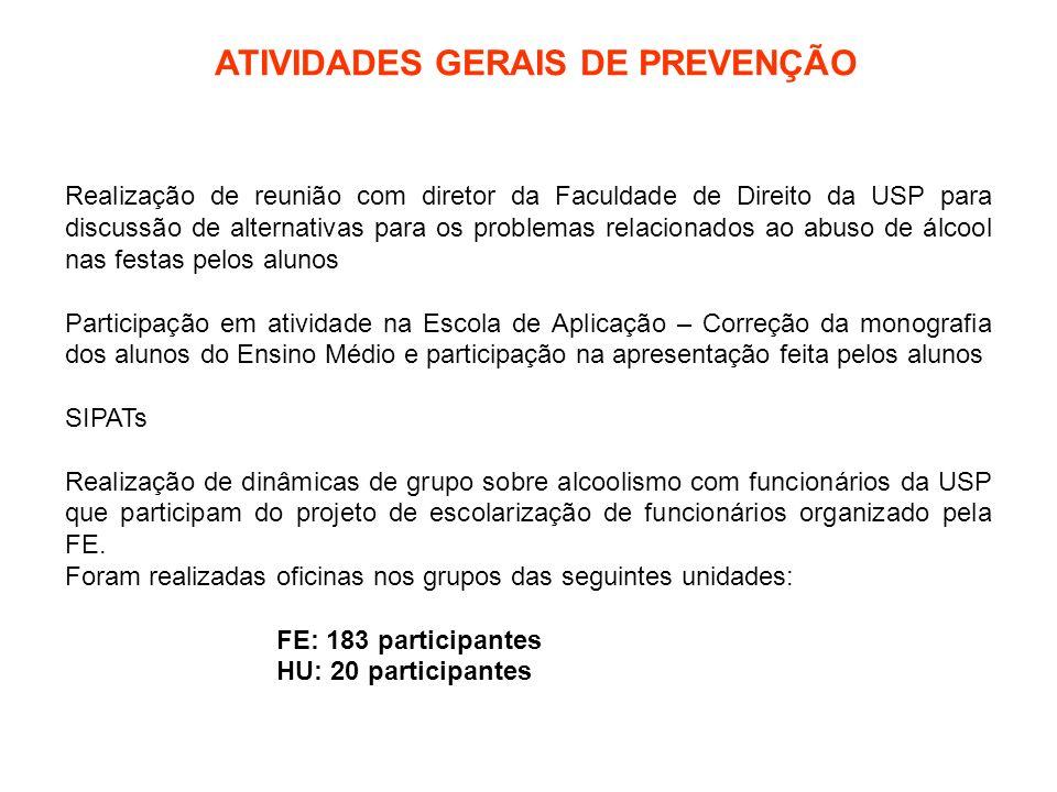 ATIVIDADES GERAIS DE PREVENÇÃO