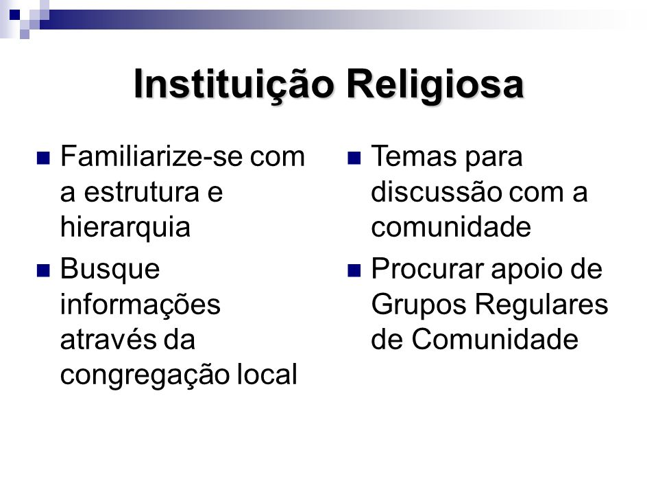 Instituição Religiosa
