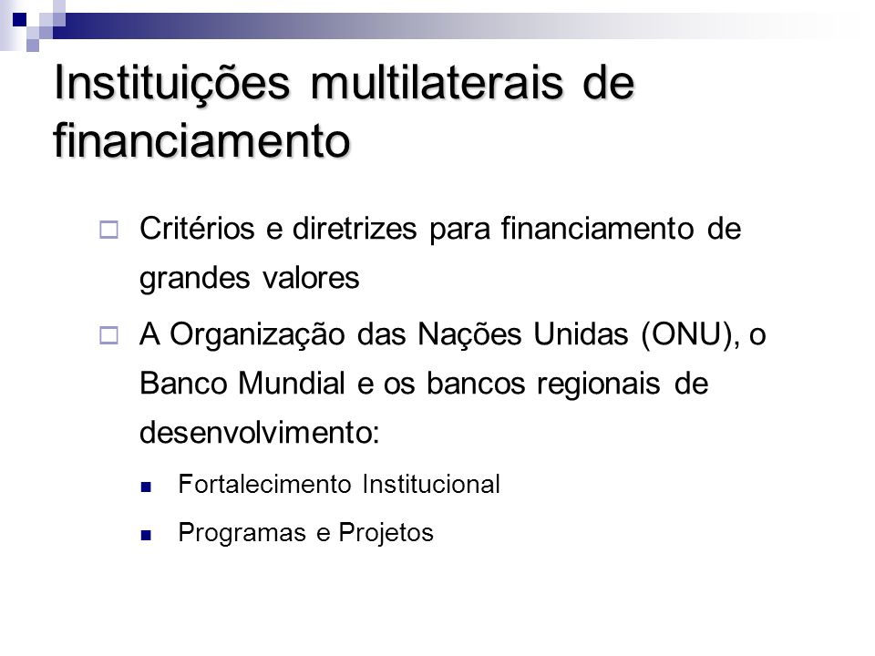 Instituições multilaterais de financiamento