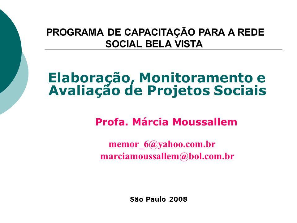 PROGRAMA DE CAPACITAÇÃO PARA A REDE SOCIAL BELA VISTA
