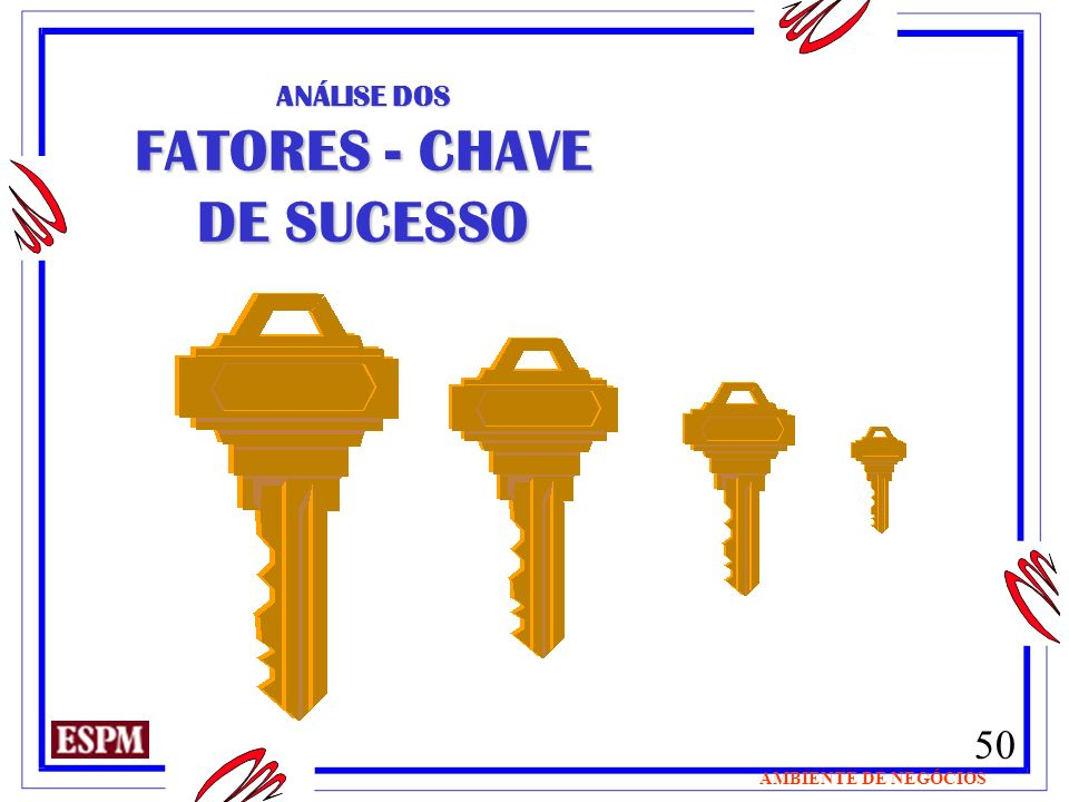 FATORES - CHAVE DE SUCESSO
