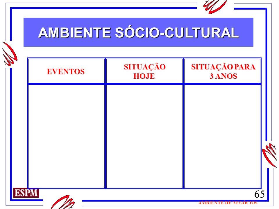 AMBIENTE SÓCIO-CULTURAL