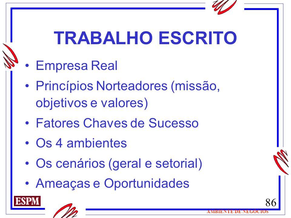 TRABALHO ESCRITO Empresa Real