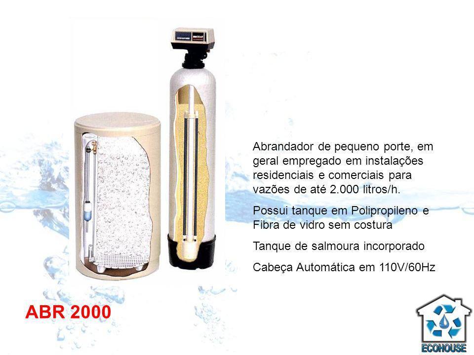 Abrandador de pequeno porte, em geral empregado em instalações residenciais e comerciais para vazões de até 2.000 litros/h.