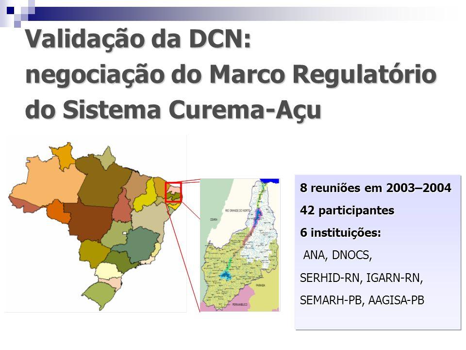 negociação do Marco Regulatório do Sistema Curema-Açu