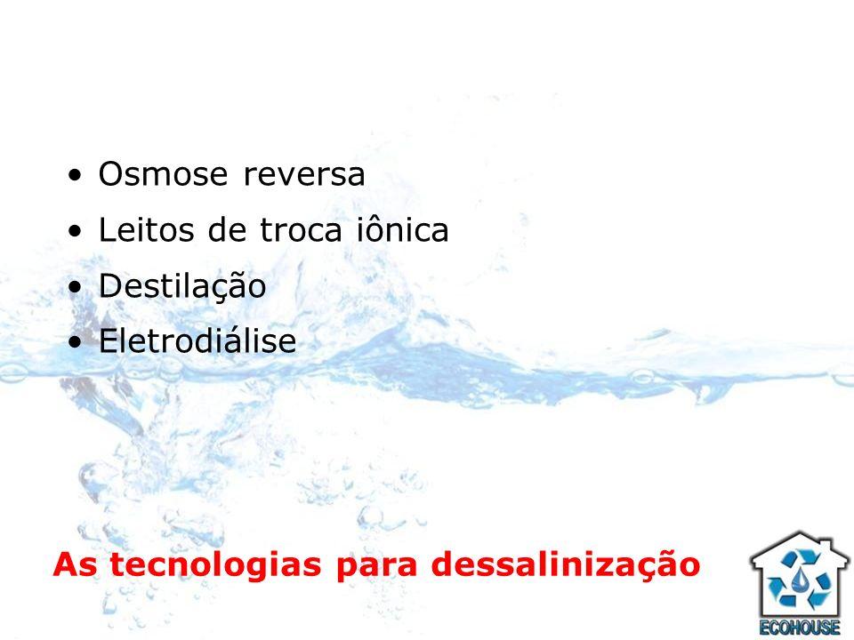 As tecnologias para dessalinização