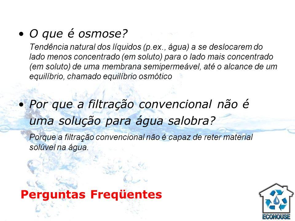 Por que a filtração convencional não é uma solução para água salobra