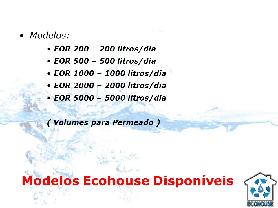 Modelos Ecohouse Disponíveis
