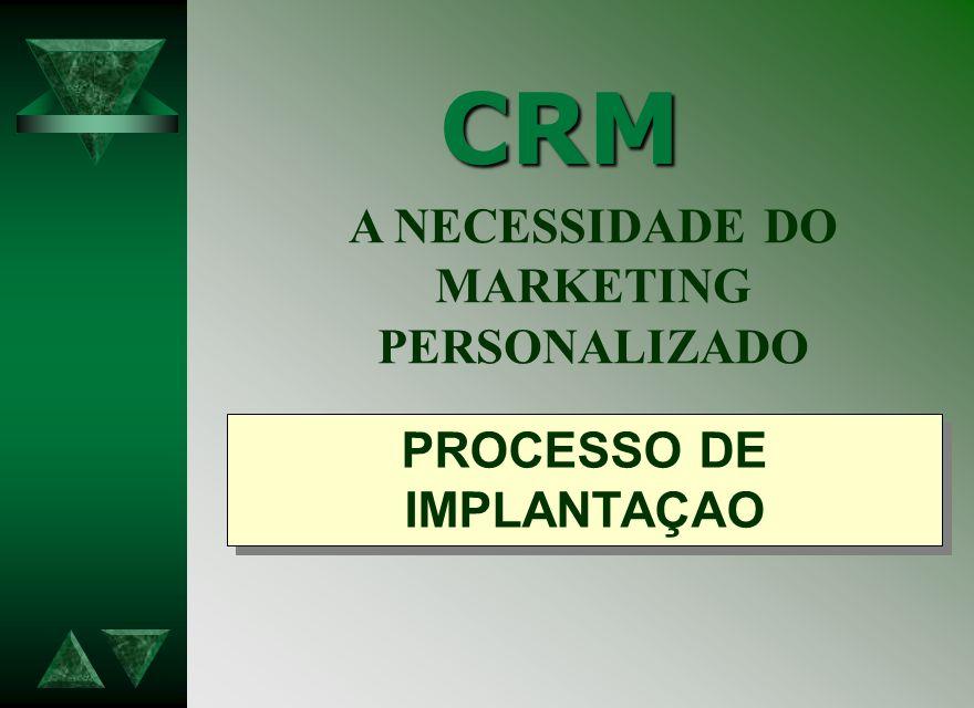 A NECESSIDADE DO MARKETING PROCESSO DE IMPLANTAÇAO