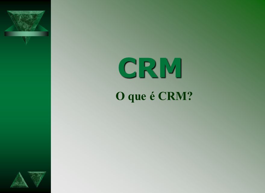 CRM O que é CRM