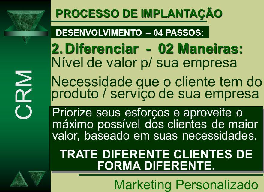 CRM Diferenciar - 02 Maneiras: Nível de valor p/ sua empresa