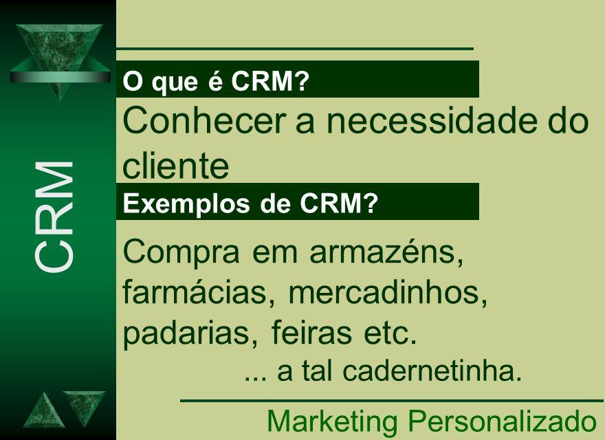 CRM Conhecer a necessidade do cliente