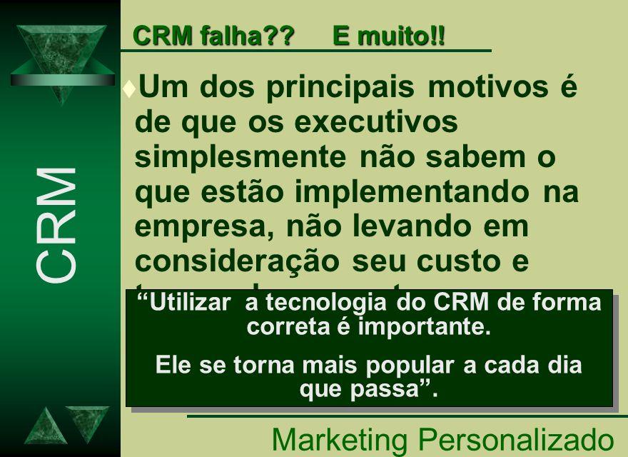 CRM falha E muito!!
