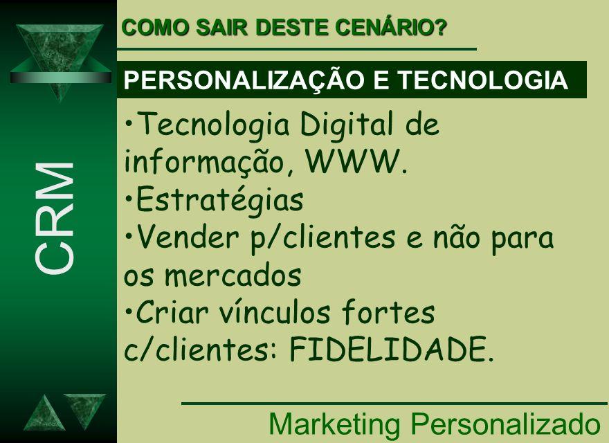 CRM Tecnologia Digital de informação, WWW. Estratégias