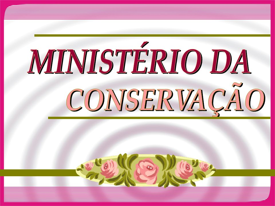 MINISTÉRIO DA CONSERVAÇÃO