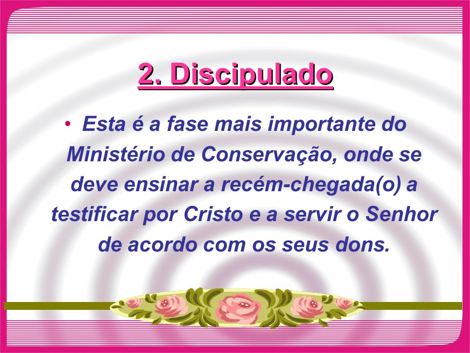 2. Discipulado