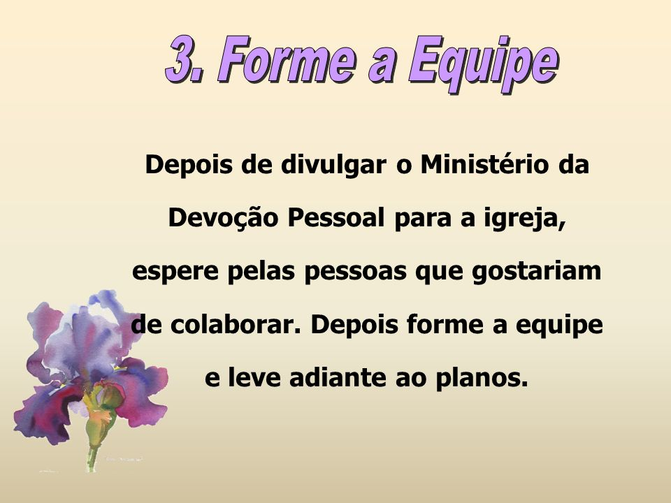 3. Forme a Equipe
