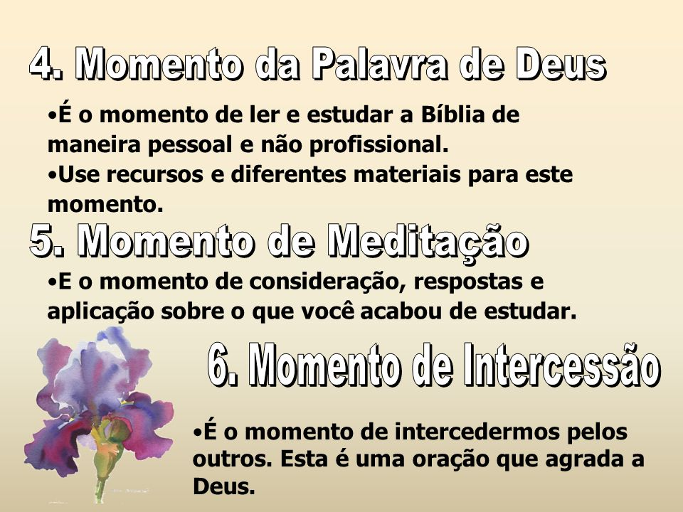 6. Momento de Intercessão