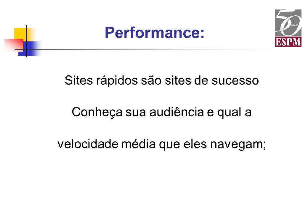 Performance: Sites rápidos são sites de sucesso