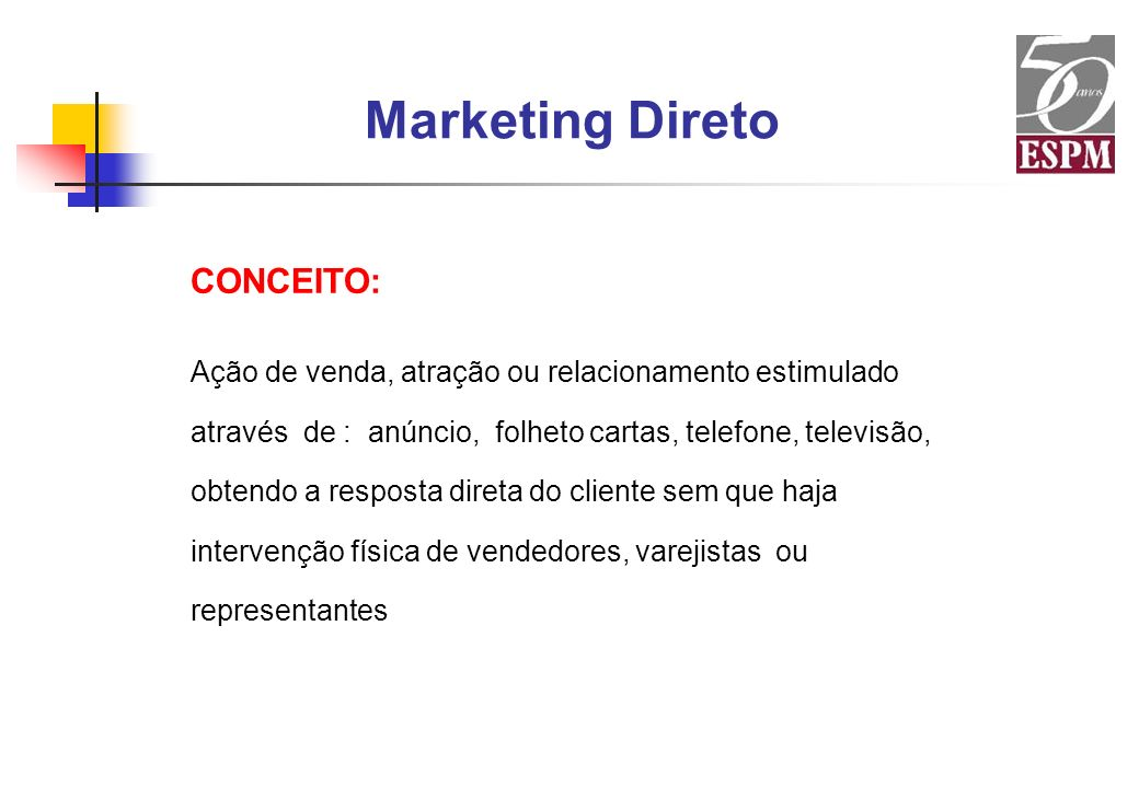 Marketing Direto CONCEITO: