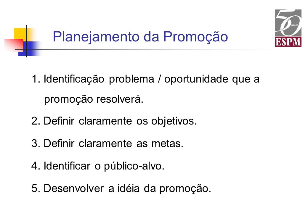 Planejamento da Promoção
