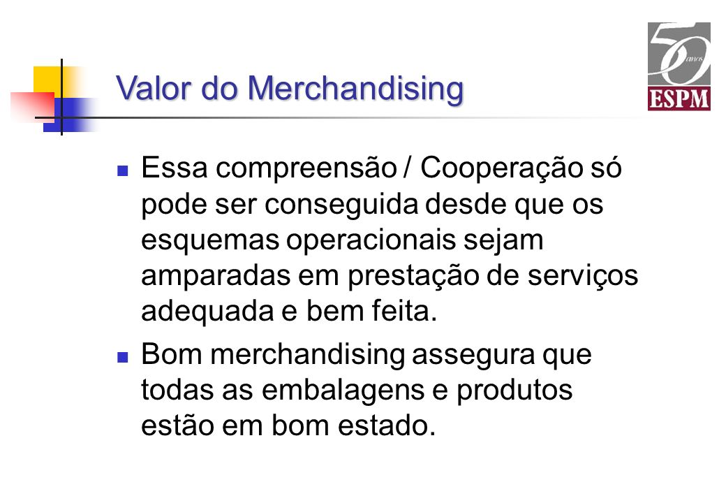 Valor do Merchandising