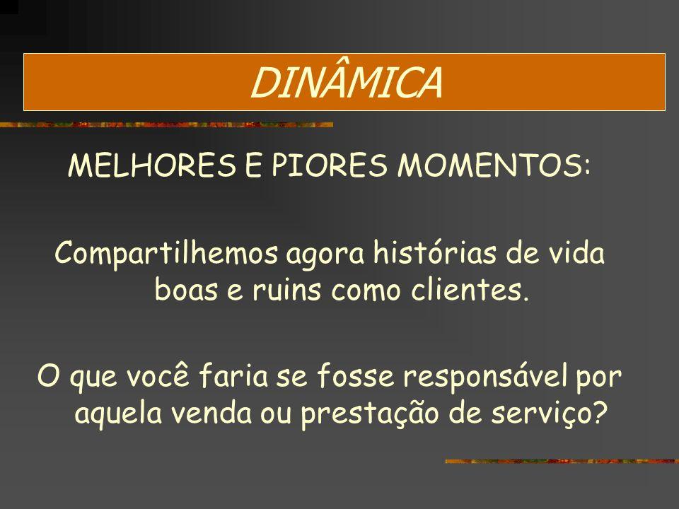 DINÂMICA MELHORES E PIORES MOMENTOS: