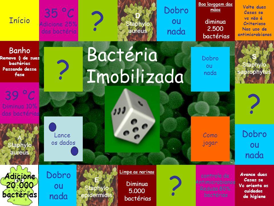 Bactéria Imobilizada 35 °C 39 °C Dobro ou nada Dobro ou nada