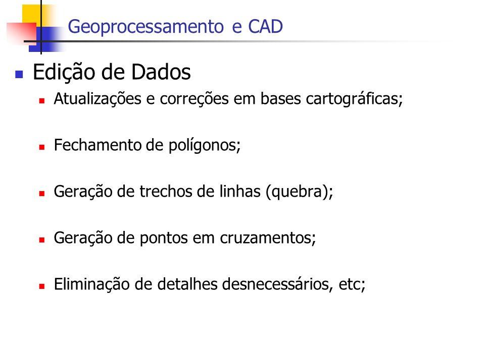 Edição de Dados Geoprocessamento e CAD