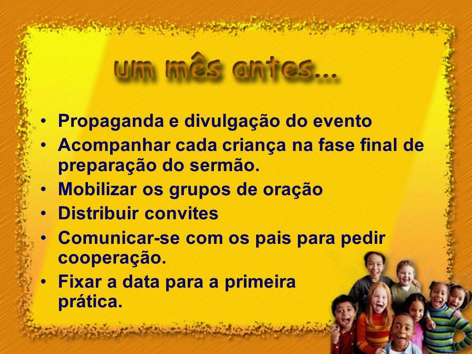Propaganda e divulgação do evento